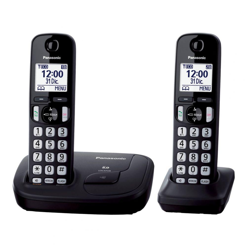 تلفن بیسیم پاناسونیک مدل Panasonic-KX-TGD212-2